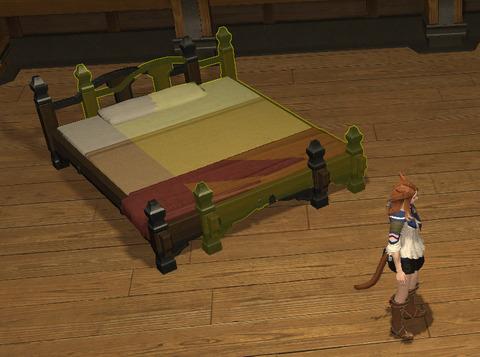 右のベッド
