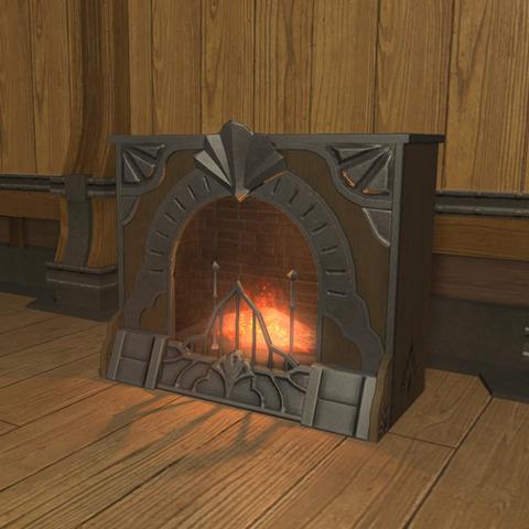 御用邸の暖炉2