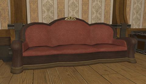 御用邸の長椅子