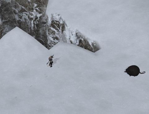 危険な崖アップ