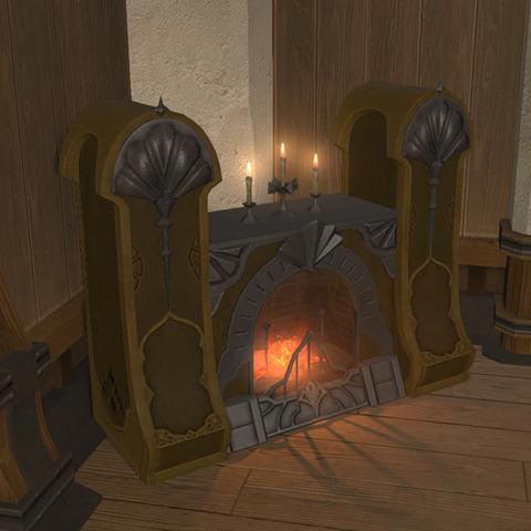 御用邸の豪著な暖炉