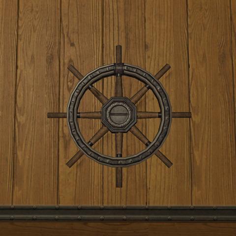 ガレアス船の操舵輪